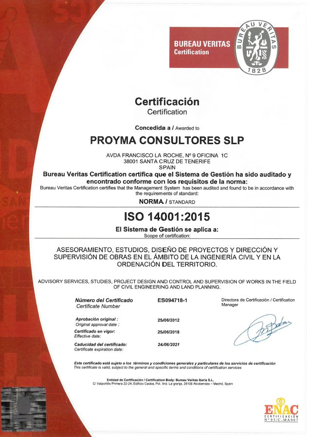 Sistema de Gestión Ambiental certificado bajo la norma ISO 14001:2004