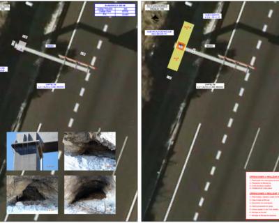 Proyecto de construcción de «Reparación y recolocación de todos los pórticos y banderolas de señalización ubicados en la CIR TF-1 en el tramo de la obra del Tercer Carril (PP.KK. 0+000 al 20+400)»