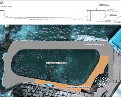 Proyecto de construcción de «Reparación de la piscina seminatural de Mesa del Mar»